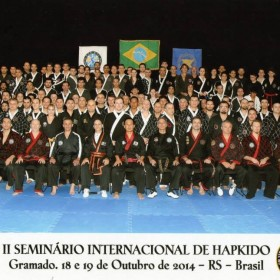 Brazil seminar participants and Master Steve Seo