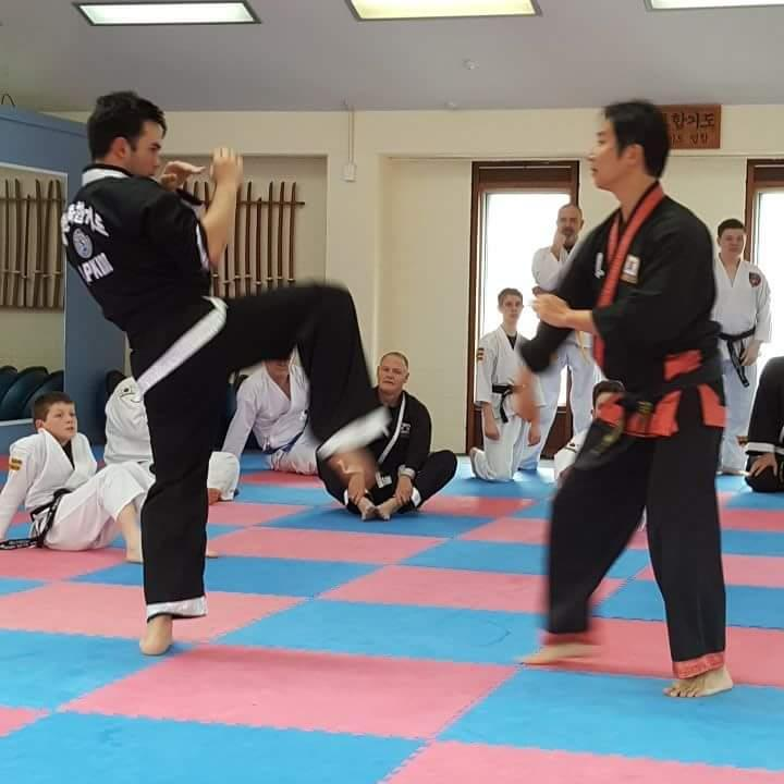 GM Scott demonstrating a hosinsul technique on Jon-Luke Harvey from the Upper Hutt Hapkido Academy